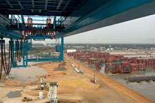 Containers at Mobile, Ala., terminal. (Photo Todd Dills)