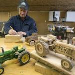Fillmore, Ill., trucker carves wooden truck models with lifelike detail