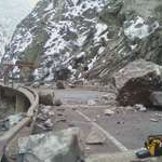 Boulders litter I-70 in Colorado. (Photo Colorado Department of Transportation)