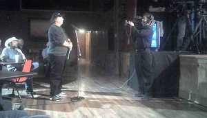 Allen Smith, during the taping of a Dan Rather Reports trucking-driver-training roundtable in 2009