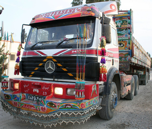 Trucks on Pakistan's Grand Trunk Road