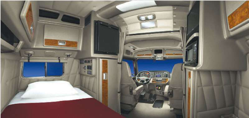 tractor trailer sleeper cab interior