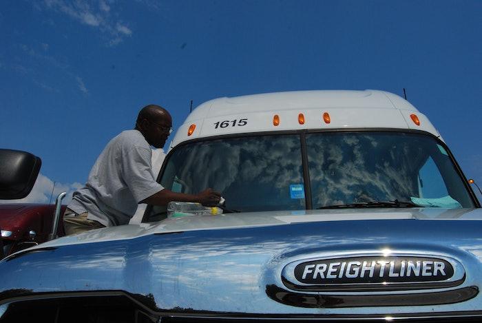 Western Express driver Derek Dorsey, on Monteagle Mountain, I-24