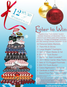 Sweepstakes: Twelve days of Truck Centers Christmas
