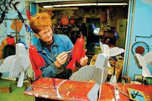 Retired long-haulers make folk-art metalwork strides