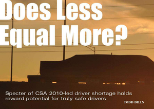 Does less mean more? Driver pay in the CSA era