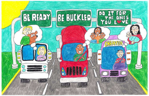 'Safety Belts Save Lives' -- an art contest for the kids