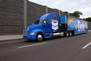 Chevron shows off new Delo truck
