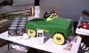 John Deere pedal car grand prize in Trucker Charity benefit raffle