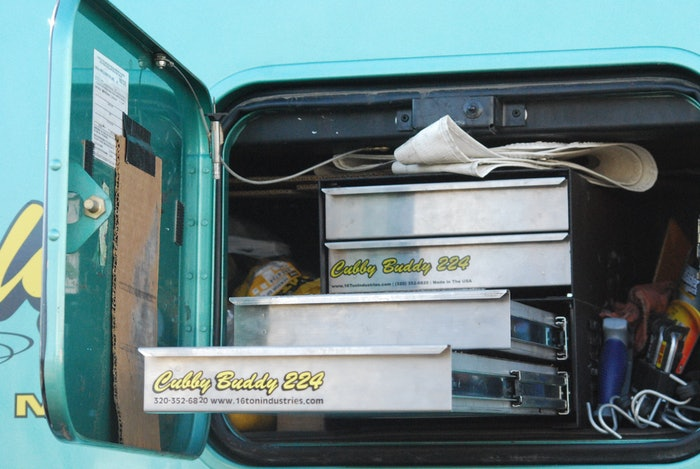 The Cubby Buddy toolbox, on owner-operator Jeff Zehrer's truck