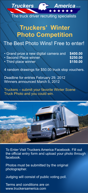 Enter winter trucking photo competition, win cash