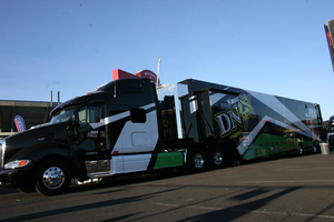 A ride with SuperCross transporter driver Loren Lowry