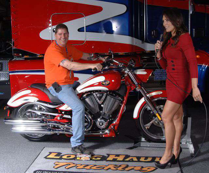 Owner-operator bags Victory Vegas Jackpot bike