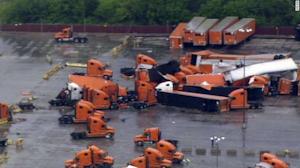 Tornado hits Dallas Schneider facility