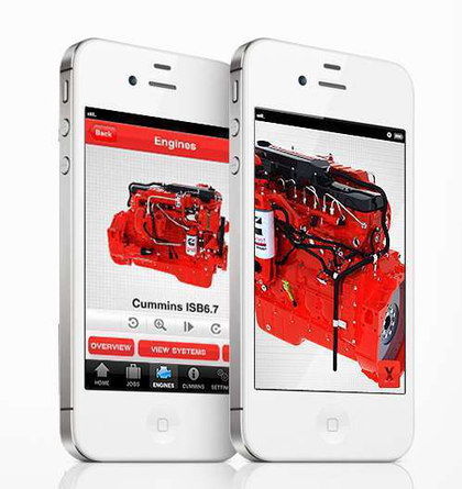 Cummins introduces iPhone app with 3-D engine views