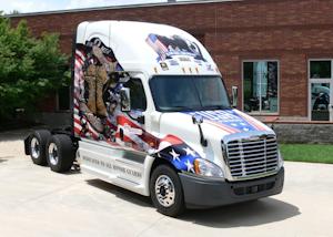 Patriotic trucks honor POWs