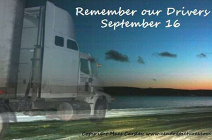 National day of remembrance -- for truck drivers