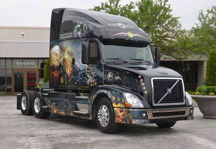 Volvo uses custom graphics to pay tribute to veterans