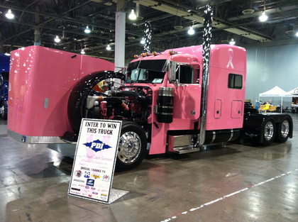 PDI's 'breast cancer truck' on display