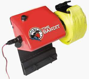 The 'Time Bandit' electric cargo-strap roller
