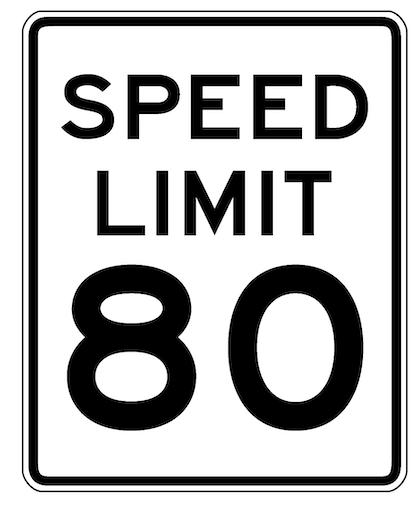 85 mph speed limit on the horizon?