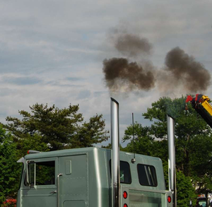 Images like this are less and less common with diesel emissions technology advancements over the past decade and more.
