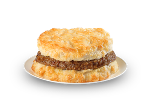 Fast food sausage biscuits