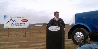 PHOTO: Montana Peterbilt breaks new ground