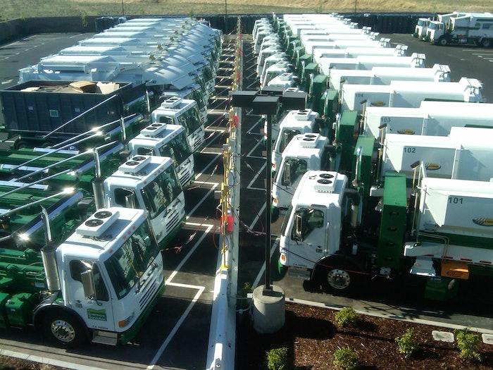 Refuse trucks CNG fueling station
