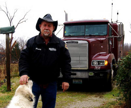 "Mike ""Mustang"" Crawford and his 1994 Freightliner"