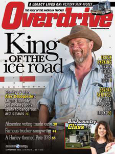 """Follow this link to read Overdrive's September 2012 cover story about """"King of the ice road"""" Alex Debogorski."""