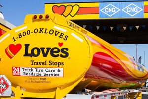 Love's opens its first natural gas fueling pumps