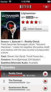 Hulu, Netflix apps