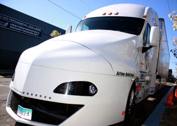 At 13.4 mpg, the future of aero trucking?