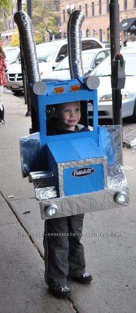 Dressing as a Peterbilt for Halloween