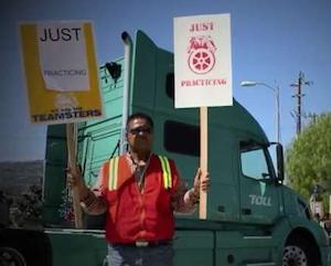 Port truckers practice art of the strike