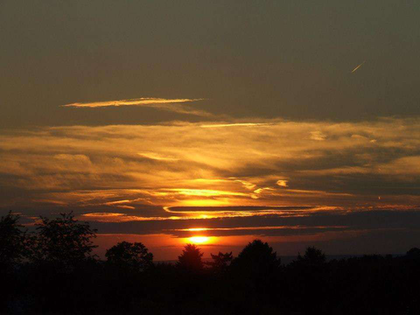Sunset on fall photos series: View from Roanoke, Va.