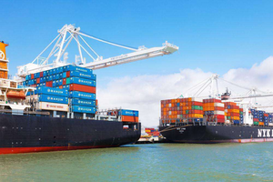 The Port of Oakland is the fourth largest container port in the country.