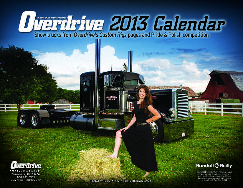 Custom trucks, pretty women: OD's 2013 calendar