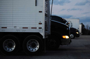 Evening at the truck stop