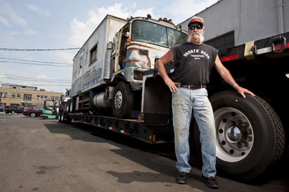 Click through the image for more of the story around 'Shipping Wars' owner-operator Marc Springer's haul of the Knievel Mack from Wike's N.C. shop.