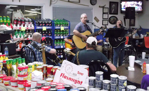 Bluegrass jam breaks out at tiny Appalachian stop