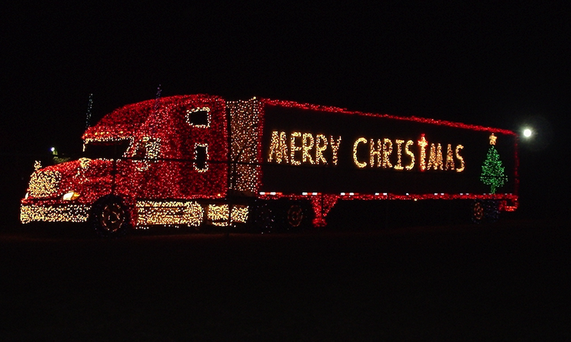 Tis the season: Trucks decked with Christmas lights, decoration