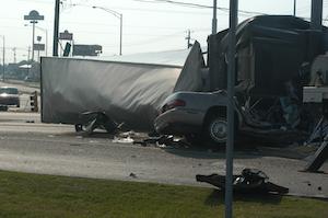 car-truck wreck
