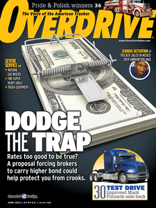 Overdrive reporting on efforts to raise the broker minimum surety requirements in June 2012. Read that story here. For subsequent reporting on the bond increase, visit this page.