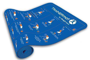Fitness mat with suggested exercises