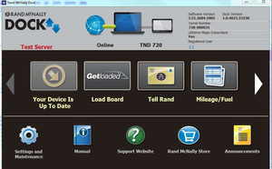 GetLoaded link in Rand McNally Dock software