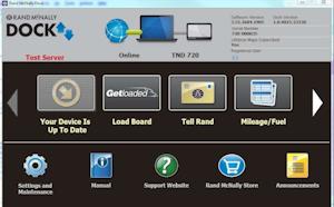 GetLoaded link in Rand McNally Dock software
