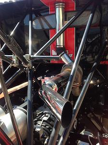 Exhaust detail on Mike Ryan Racing Freightliner