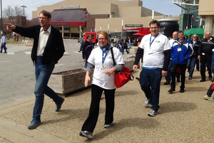 The Trucking Solutions Group's health walk at MATS this year drew the participation of FMCSA Administrator Anne Ferro. Find coverage of the walk in this past post to the Channel 19 blog.